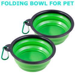 Cuencos plegables de viaje para mascotas para agua de alimentos Cuencos Plato