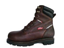 أحذية السلامة للخدمة الشاقة تعزز من الجلد أعلى المداسات الفولاذية