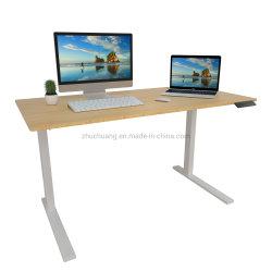 향상 전기 이중 모터 조정가능한 고도 서 있는 사무실 책상은 서기 위하여 앉는다
