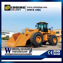 미니/소형/대형/대형 6톤 농업 광산 도로 프런트 엔드 셔블 휠 로더 Weichai Steyr/Cummins Engine, 석탄 버킷 및 목재 클램프 포함