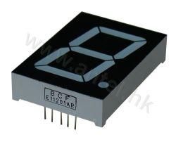 1,2 pouces à affichage LED à sept segments chiffre unique pour l'électronique