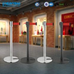 Barriera di sicurezza per paletti di sicurezza Heavybao Portable Blet Stand Queue Sistema a cinghia per interni