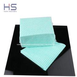 70% viscose 30% polyester non tissé Essuyez les rouleaux de nettoyage/lavage Chiffon de nettoyage