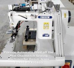 Automatische Jeans-Zuführung aus der Armnähmaschine