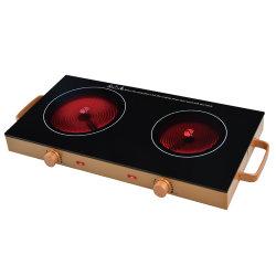 2800W cuisinière électrique double brûleur céramique à infrarouge