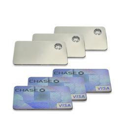 Draagbare metalen Kruidbuis Kaart creatieve afneembaar metalen rookpijpen Visa Card Pipe sigaret tabak pijpen