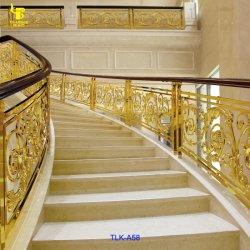 Luxus Gold Farbe Messing Treppe Guardrail Panel Treppengeländer
