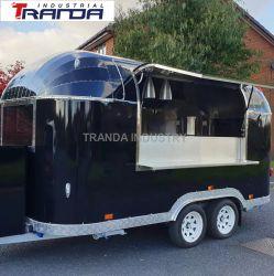 다기능 커머셜 모바일 키친 에어스트림 푸드 트레일러 트럭 컬러 페인팅 유럽 판매를 위한 푸드 트럭