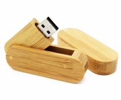 良いタケ木製の回転Uのディスク展覧会のスタジオのギフトの工場供給木USBのフラッシュ駆動機構USBのペン駆動機構