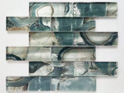 Mosaico di vetro della decorazione interna con effetto brillante per la decorazione della parete, mattonelle, materiale da costruzione, mattonelle della parete (GYS088)