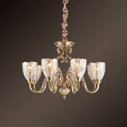Européen et American Vintage Retro Ceiling Lamp lustre en verre clair de luminaire cuisine moderne de l'éclairage de la télécommande