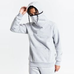 Alta calidad de 380gsm 50% algodón 50% Poliéster Tech Moda Polar Hoodie Mens Plain Mascarilla sudaderas con capucha sudaderas