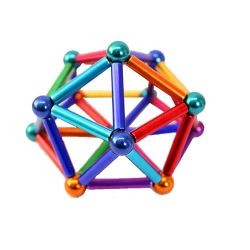 熱い販売は創造性を高める棒および球の磁気の建物のブロックを付く
