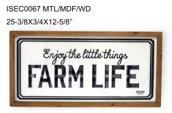 علامة جدار الحياة في المزرعة ذات الإطارات الخشبية