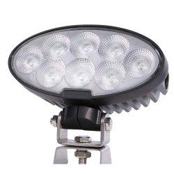 12V/24V 7pulg Impermeable IP68 80W LED CREE Oval lámparas de trabajo del tractor con soportes giratorios