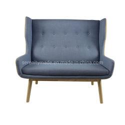 Tissu Commercial populaire Canapé en bois Hôtel chaise de bureau