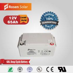 Cer RoHS MSDS anerkannte Gel-Batterie der langen Lebensdauer-12V 65ah für Solar-PV und alleinigere Straßenbeleuchtung