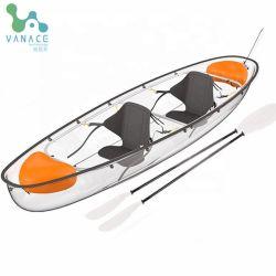 Plástico Vanace asiento doble fondo cristalino transparente Kayak