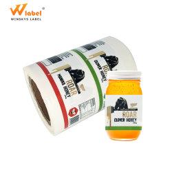 L'impression personnalisée OEM étanche auto-adhésif en vinyle autocollant étiquette de bouteille de jus