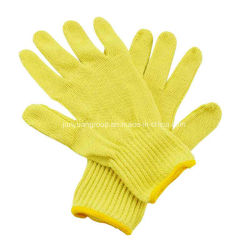 Bon prix en fibre aramide Cut-Resistant Heat-Resistant main Gants de travail de protection