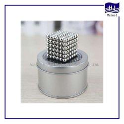 Hermosa bola magnético Neocube Material magnético de neodimio NdFeB D5mm D3mm revestimiento personalizadas con diferentes