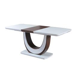 Commerce de gros de luxe Carré Blanc Brillant MDF au design moderne Table à manger