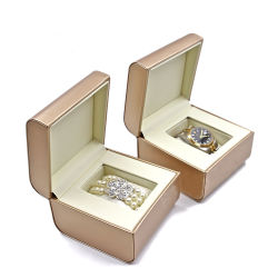 Bijoux en cuir de luxe OEM PU/anneau/benne Necklace/Earring/Bracelet/Watch/emballage boîte cadeau
