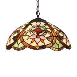 Tfp-1801 Tiffany様式花のビクトリア朝2ライト天井のペンダント灯