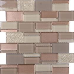 Letonia cuarto de baño color mezcla de materiales de construcción Mosaico de vidrio