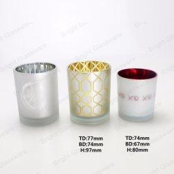 Contenitori di vetro con il marchio del laser, vasi della candela della candela per la fabbricazione della candela
