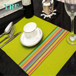 Yrf 고품질 Square Vinyl Baby Dinner Mat Placemats Heat Resist Cable