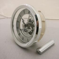 Hoge kwaliteit 103 mm Waterford Brass Crystal transparant Skeleton Klok