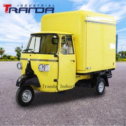 Personalizar Electric Piaggio Ape conversiones de camiones de comida rápida de estilo Vintage Tienda Móvil Piaggio Ape Car