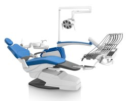 Cadeira de Clínica Dentária de memória de luxo com tabuleiro de montagem superior