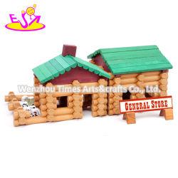 아이 W14G051를 위한 도매 교육 나무로 되는 구조 집 장난감