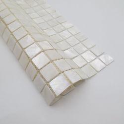 """Di 100% del fiume delle coperture di mosaico delle mattonelle bianco naturale in pieno per la maglia madreperlacea del mosaico della parete che appoggia 12 """" *12 """""""