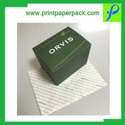 Het maat het Stempelen van de Folie van het Vakje van de Douane van het Document van de Gift van het Vakje van de Kleinhandels Verpakking Verpakkende Verpakkende Verpakkende Vakje van de Vertoning van het Vakje van het Product met Papieren zakdoekje