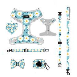 Ajustable modèle personnalisé Pet personnalisé des Accessoires faisceau de chien matelassé réversible de sublimation Set/accessoire pet