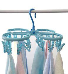 أوكازيون ساخن تجفيف البلاستيك يرتدين ثياب ثياب ثياب مع 24 مشابك