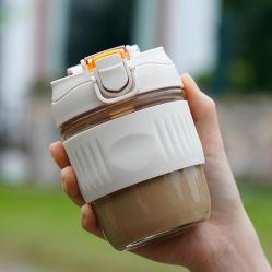 Vidrio de borosilicato resistente al calor del vaso de agua reutilizable viajar utilizan Café Taza de vidrio