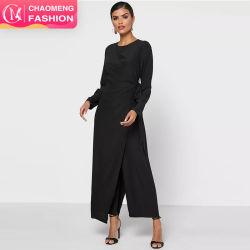 Nuevo diseño de ropa de color puro One-Piece Jumpsuit de última moda de la correa de pantalones con estilo clásico estilo de ropa musulmanes