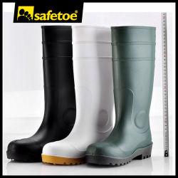 Safetoe Botas de seguridad de caucho resistente al agua para Auto el polvo, de protección de la rodilla botas de lluvia para el trabajo industrial, el tobillo botas de goma de mascar de PVC a por mayor