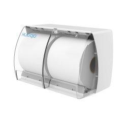 Hotel gebruik aan de muur gemonteerde duurzame Double Roll Tiolet Tissue Box ABS Handmatige papierdispenser