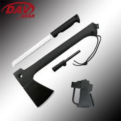 Bravedge 14.15 polegadas Ax Global com lâmina de aço inoxidável 420 e Nylon Puxador de fibra de vidro para piscina Camping Caça e sobrevida.