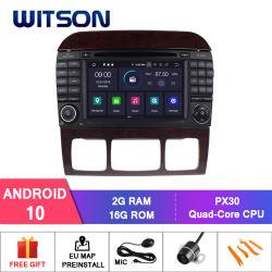 مشغل أقراص DVD للسيارة Witson Android 10 لأقراص DVD من نوع مرسيدس-Benz S-W220/S280/S320/S350/S400/S430/S500 (1998-2005) راديو السيارة GPS الوسائط المتعددة