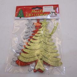10*14cm schitteren de Plastic Hangende Kerstboom van het Ornament
