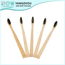 El logotipo de privado OEM grabado el asa puede hacer de bambú natural el cepillo de dientes