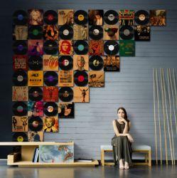 Disco de película de arte de pared para la decoración del hogar diseño de obras de arte