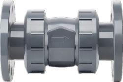 Qualitäts-richten Plastikrückschlagventil UPVC des Verbindungsstück-Rückschlagventil-UPVC doppeltes geflanschtes doppeltes Schwingen-Rückschlagventil Belüftung-einzelnes Verbindungsstück-Rückschlagventil Verbindungsstück-des Rückschlagventil-UPVC aus