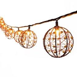 10 Licht Dekorative Outdoor Perlen Kupfer Draht Kugelschnur Lichter